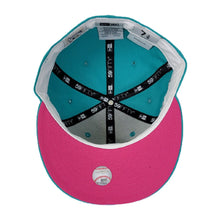 Load image into Gallery viewer, Teal Tampa Bay Rays Bright Pink Bottom 1998 Inaugural Season New Era 59Fifty Fitted
