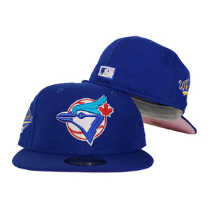 Toronto Blue Jays Royal Icy Blue Bottom 1992 World Series New Era 59Fifty Fitted Hat
