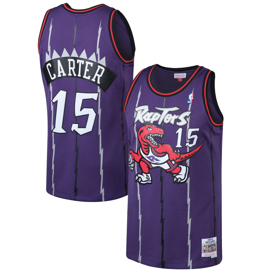 Toronto Raptors 1998-99 Vince Carter Mitchell & Ness Purple Swingman Jersey