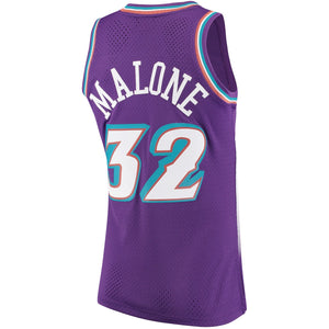 Utah Jazz 1996-97 Karl Malone Mitchell & Ness Purple Swingman Jersey