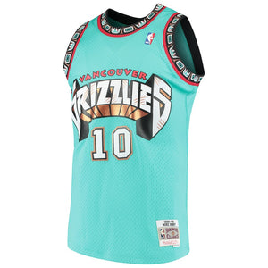 Vancouver Grizzlies 1999-99 Mike Bibby Mitchell & Ness Teal Swingman Jersey
