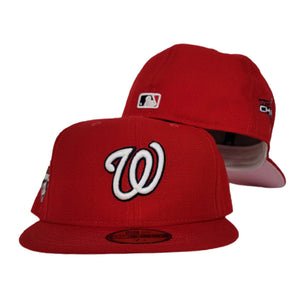 Washington Nationals Red Pink Bottom 2019 World Series Champions New Era 59Fifty Fitted