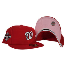 Load image into Gallery viewer, Washington Nationals Red Pink Bottom 2019 World Series Champions New Era 59Fifty Fitted