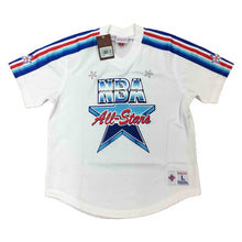 Load image into Gallery viewer, White NBA All Star Mitchell & Ness 1991 Mesh V-Neck Jersey