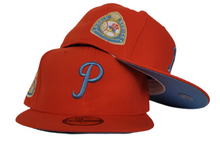 Load image into Gallery viewer, ORANGE PHILADELPHIA PHILLIES ICY BLUE BOTTOM 1950 WORLD SERIES NEW ERA 59FIFTY FITTED