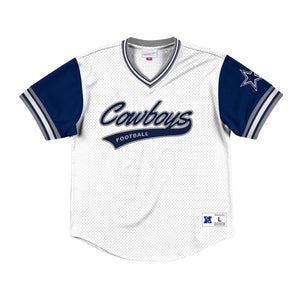 Mitchell & Ness Top Prospect Mesh V-Neck Dallas Cowboys Jersey