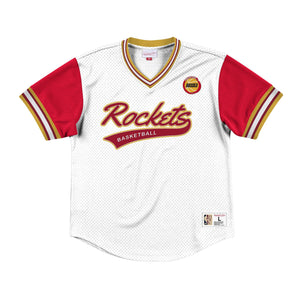 Mitchell & Ness Top Prospect Mesh V-Neck Houston Rockets Jersey