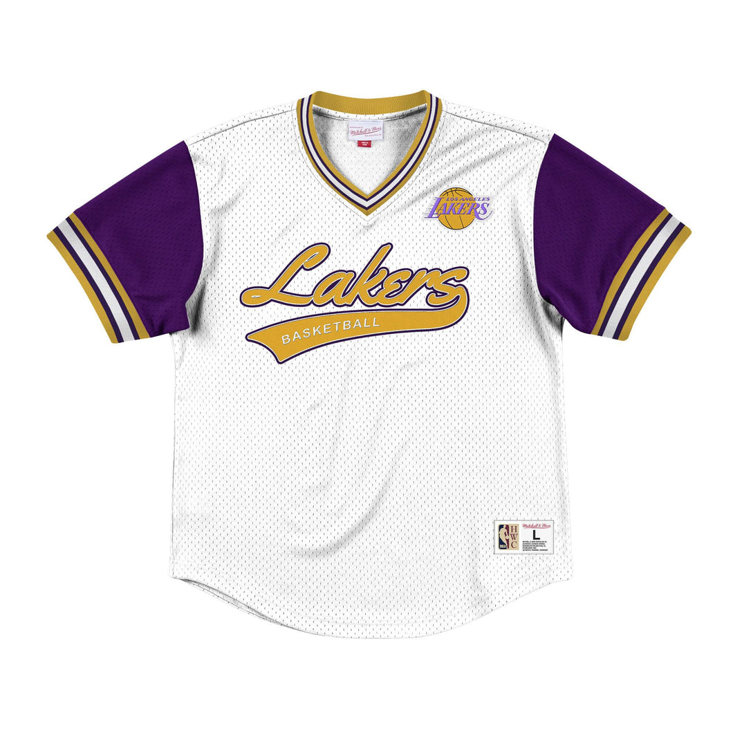 Mitchell & Ness Top Prospect Mesh V-Neck Los Angeles Lakers Jersey