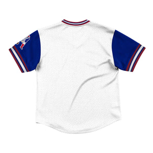 Mitchell & Ness Top Prospect Mesh V-Neck New England Patriots Jersey