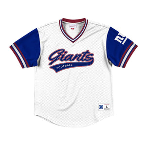 Mitchell & Ness Top Prospect Mesh V-Neck New York Giants Jersey