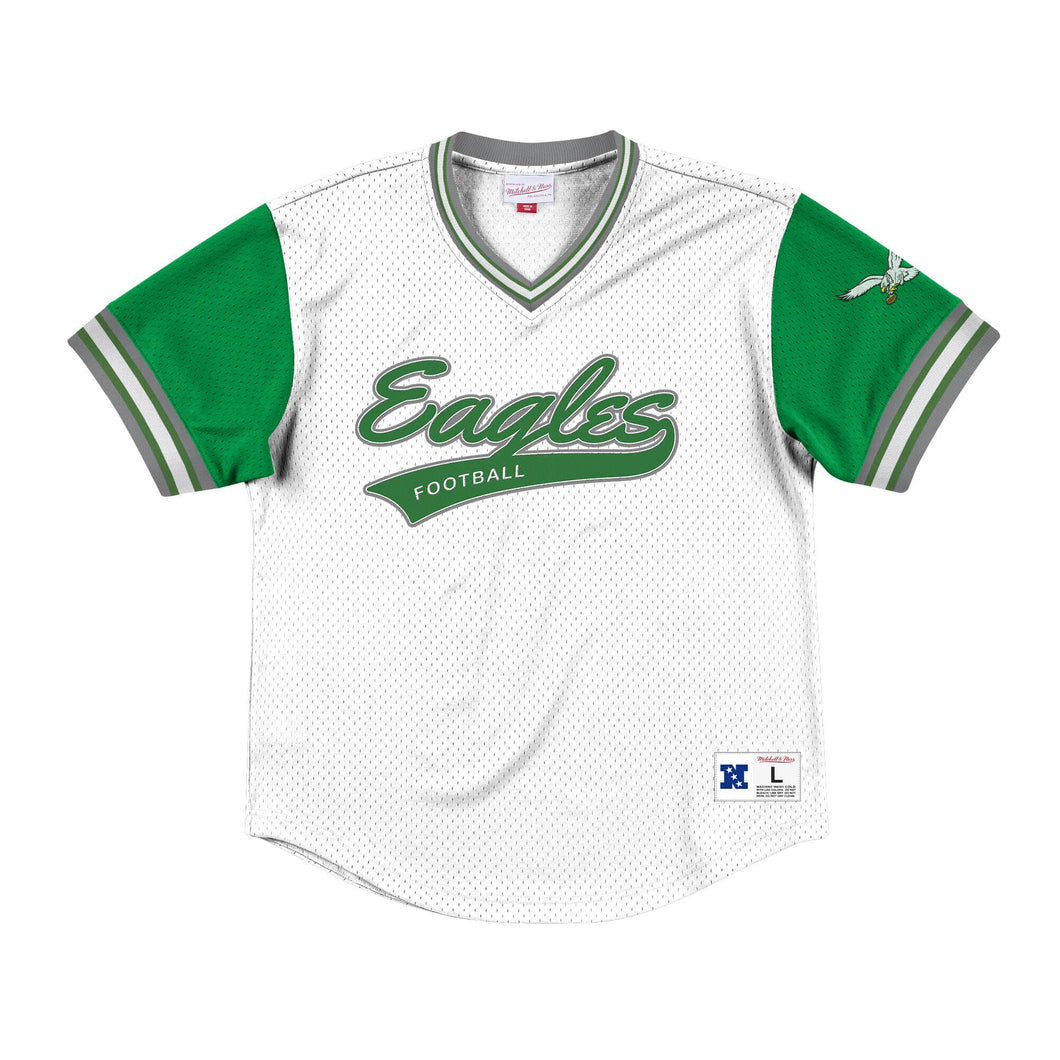 Mitchell & Ness Top Prospect Mesh V-Neck Philadelphia Eagles Jersey