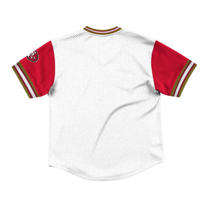 Mitchell & Ness Top Prospect Mesh V-Neck San Francisco 49ers Jersey