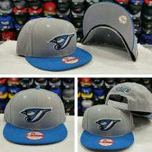 Load image into Gallery viewer, Exclusive New Era MLB Toronto Blue Jays 9Fifty snapback Hat Gray / Blue