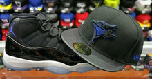 Load image into Gallery viewer, Matching New Era MLB Toronto Blue Jays Fitted Hat For Air Jordan 11 Space Jam