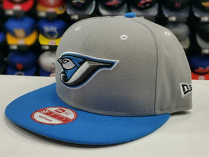 Exclusive New Era MLB Toronto Blue Jays 9Fifty snapback Hat Gray / Blue