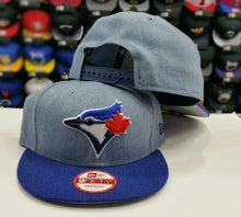 Load image into Gallery viewer, Exclusive New Era MLB Toronto Blue Jays 9Fifty snapback Hat Heather Royal Blue