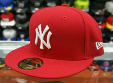 Load image into Gallery viewer, New Era 5950 NEW YORK YANKEES RED Men's Fitted MLB Hat YANKEE CAP