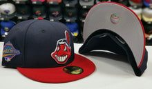 Load image into Gallery viewer, New Era Cleveland Indians Fitted Hat 1997 World Series Side Patch MLB 59fifty