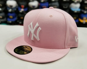 New Era 59Fifty NEW YORK YANKEE Light PINK Fitted MLB Hat
