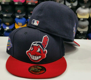 New Era Cleveland Indians Fitted Hat 1997 World Series Side Patch MLB 59fifty