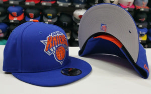 Exclusive New Era NBA Team Color ROYAL BLUE New York Knicks 9Fifty Snapback Hat