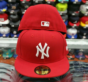New Era 5950 NEW YORK YANKEES RED Men's Fitted MLB Hat YANKEE CAP