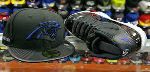 Matching New Era Carolina Panthers 5950 Fitted Hat For Air Jordan 11 Space Jam