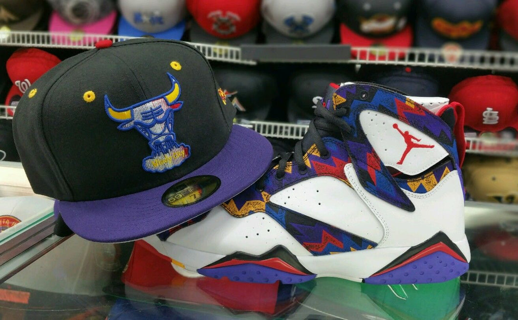 Matching New Era Chicago Bulls 5950 fitted for Air Jordan 7 Sweater