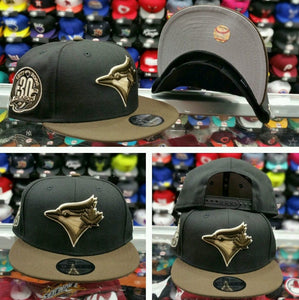 Exclusive New Era MLB Toronto Blue Jays 9Fifty snapback Hat Black Brown