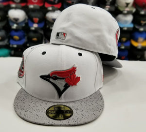 Matching New Era 5950 Toronto Blue Jays Fitted hat Cap For Jordan 5 White Cement