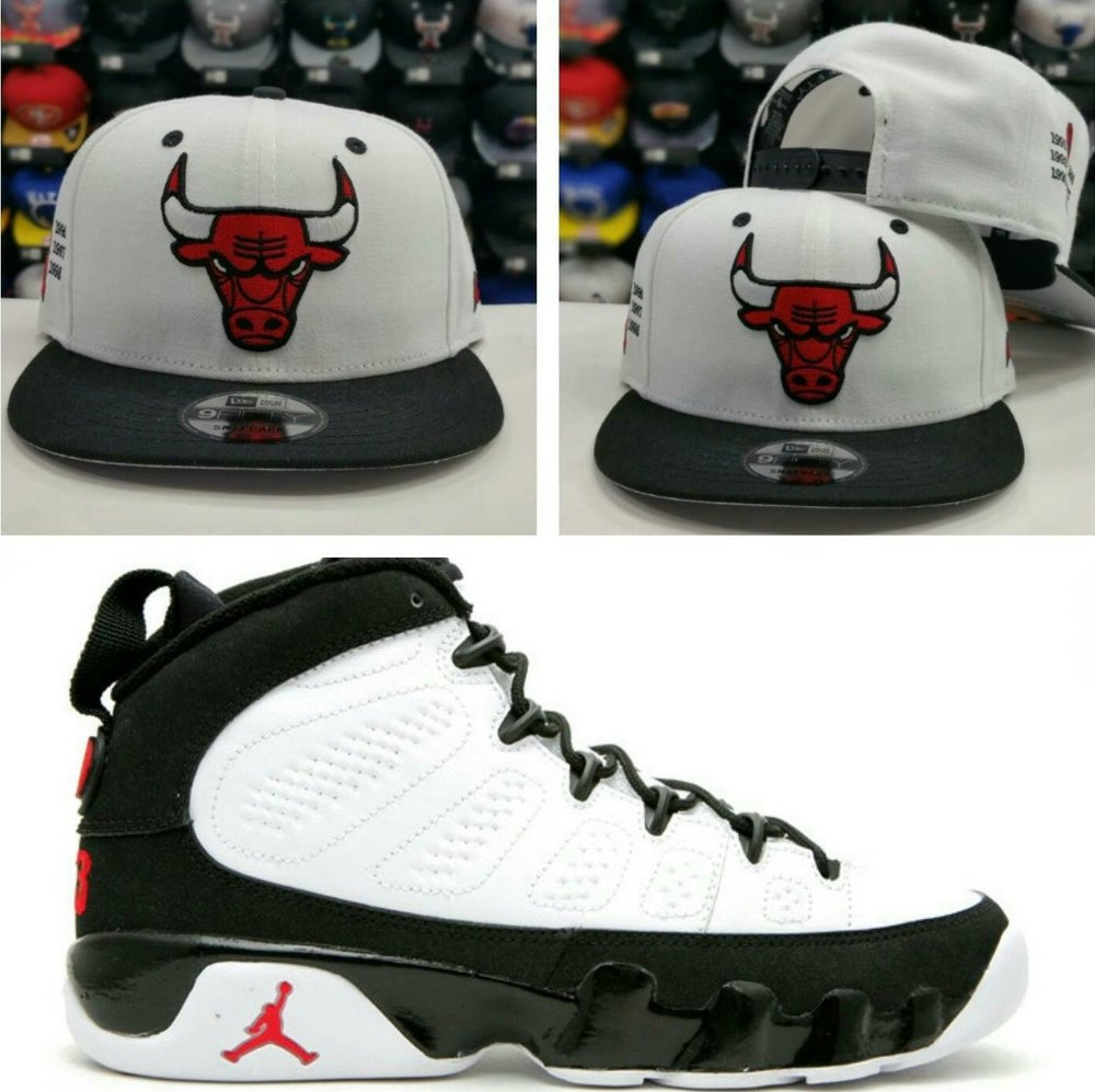 Matching New Era NBA Chicago Bulls 9Fifty Snapback for Jordan 9 Space Jam Hat