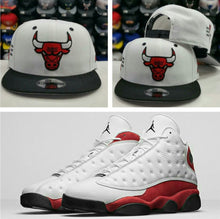Load image into Gallery viewer, Matching New Era NBA Chicago Bulls 9Fifty Snapback for Jordan 13 CHICAGO Hat