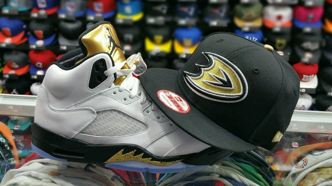 Matching New Era Anaheim Ducks 9Fifty snapback for Jordan 5