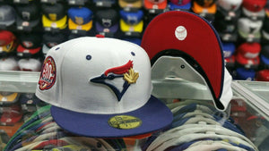 Matching New Era Toronto Blue Jays fitted hat Jordan 7 Olympic Tinker Alternate
