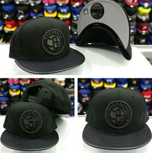 Load image into Gallery viewer, New Era 9Fifty NBA Black Brooklyn Nets Hologram Logo snapback Hat
