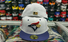 Load image into Gallery viewer, Matching New Era Toronto Blue Jays fitted hat Jordan 7 Olympic Tinker Alternate