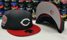Load image into Gallery viewer, New Era MLB 9Fifty Cincinnati Reds 1976 World Series Black / Red snapback Hat