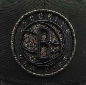 New Era 9Fifty NBA Black Brooklyn Nets Hologram Logo snapback Hat