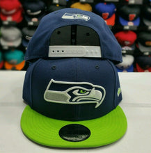 Load image into Gallery viewer, Exclusive NFL New Era New Seattle SeaHawks Snapback 9Fifty Snapback Hat Cap