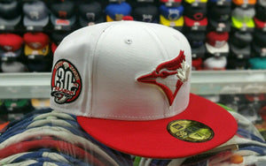 Matching New Era Toronto Blue jays fitted 59Fifty hat for Jordan 12 Gym Red