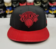 Load image into Gallery viewer, Exclusive New Era 59Fifty NBA New York Knicks RED Metal Badge Logo Fitted Hat