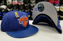 Load image into Gallery viewer, Exclusive New Era NBA New York Knicks 2X Pin trophy Championship fitted Hat Cap
