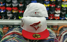 Load image into Gallery viewer, Matching New Era Toronto Blue jays fitted 59Fifty hat for Jordan 12 Gym Red