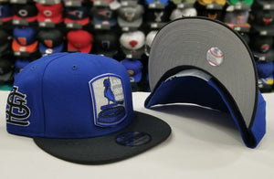 Matching New Era St. Louis Cardinals snapback Hat for Jordan 5 Royal Blue Suede