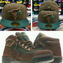Load image into Gallery viewer, Matching New Era Toronto Blue Jays Fitted hat Timberland boot beef broccoli