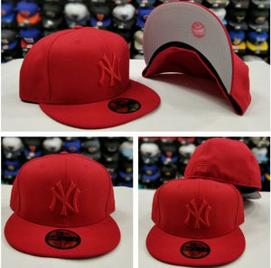 New Era 59Fifty NEW YORK YANKEE RED on RED Men's Fitted MLB Hat