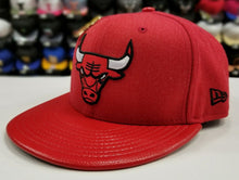Load image into Gallery viewer, Exclusive New Era NBA RED Chicago Bulls 6X Pin Drop Championship fitted Hat Cap