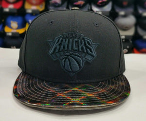 Exclusive New York Knicks NBA Black New Era 9Fifty Snapback Hat