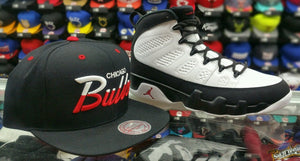 Matching Mitchell & Ness Chicago Bulls Scrip Snapback For Jordan 9 Space Jam