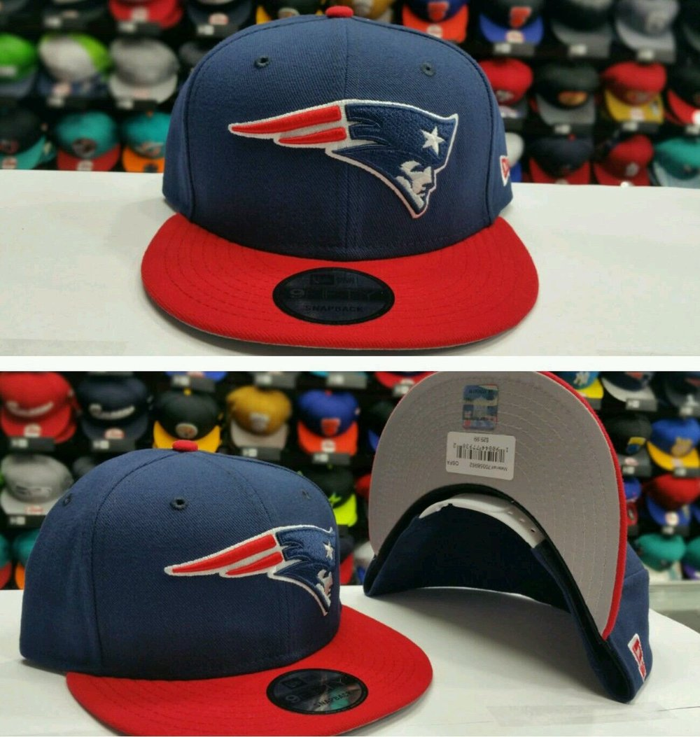 Exclusive NFL New Era New England Patriots Navy / Red Snapback 9Fifty Snapback Hat